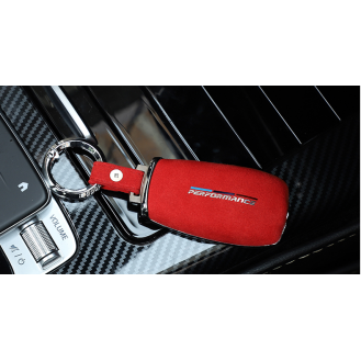 Performance Chrom-Texstil Schlüsseletui Hülle Mercedes-Benz Rot
