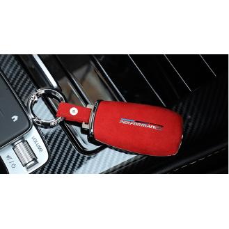 Performance Chrom-Texstil Schlüsseletui Hülle und Brieftaschen Mercedes-Benz Rot