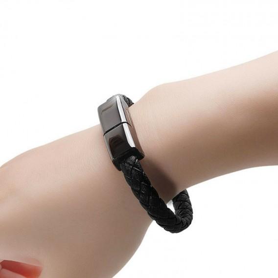 Top Qualität USB Armband Daten Ladekabel für Android Micro Schwarz