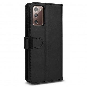 Samsung Galaxy Note 20 Wallet Flip Case Cover Schwarz