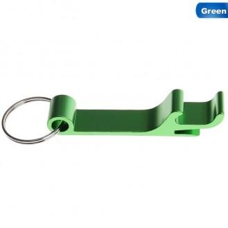 Schlüsselanhänger Bierflasche Dosenöffner Getränk Schlüsselbund Ring Klaue Grün (Auf Wunsch mit Gravur)