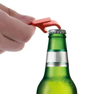 Schlüsselanhänger Bierflasche Dosenöffner Getränk Schlüsselbund Ring Klaue Schwarz (Auf Wunsch mit Gravur)
