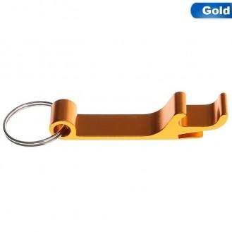Schlüsselanhänger Bierflasche Dosenöffner Getränk Schlüsselbund Ring Klaue Gold (Auf Wunsch mit Gravur)