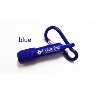 Columbia Mini LED Taschenlampe Licht Schlüsselanhänger Outdoor für Wandern Blau (Auf Wunsch mit Gravur)