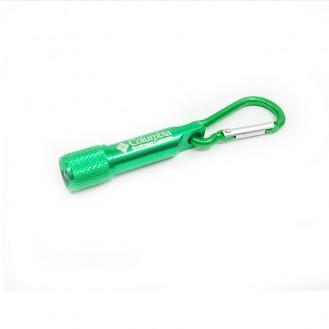 Columbia Mini LED Taschenlampe Licht Schlüsselanhänger Outdoor für Wandern Grün (Auf Wunsch mit Gravur)