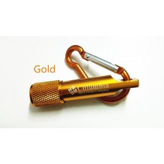 Columbia Mini LED Taschenlampe Licht Schlüsselanhänger Outdoor für Wandern Gold (Auf Wunsch mit Gravur)