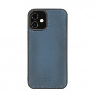 Bouletta Magnetische abnehmbare Brieftasche aus Leder mit RFID-Blocker für iPhone 12 Mini BRN Burnt Blue