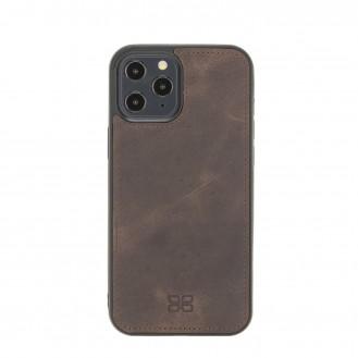 Bouletta Magnetische abnehmbare Handyhülle aus Leder mit RFID-Blocker für iPhone 12 Pro Max Tiguan Brown