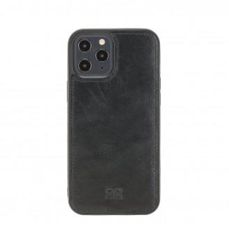 Bouletta Magnetische abnehmbare Handyhülle aus Leder mit RFID-Blocker für iPhone 12 Pro Max Rustic Black
