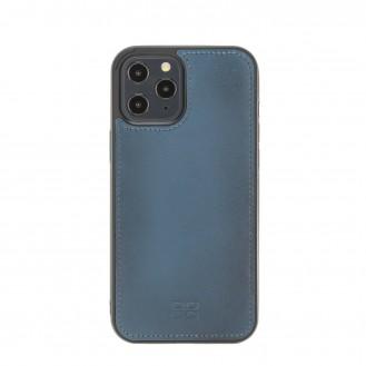 Bouletta Magnetische abnehmbare Handyhülle aus Leder mit RFID-Blocker für iPhone 12 Pro Max BRN Burnt Blue