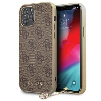 Guess 4G Charms - iPhone 12 Pro Cover Case Schutzhülle Hülle Braun