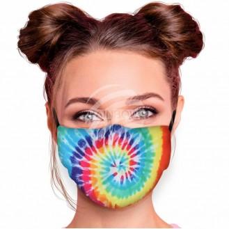 Verstellbare Waschbare Motivmasken Multicolor Spirale