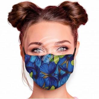 Verstellbare Waschbare Motivmasken Multicolor Schmetterlinge