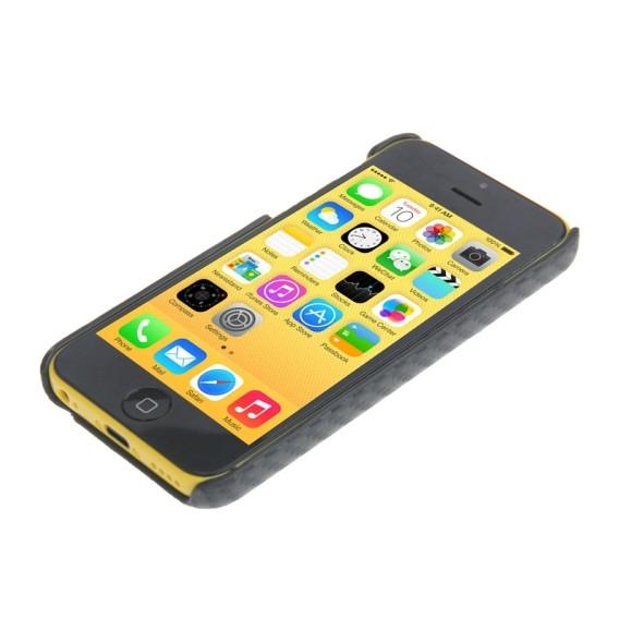 Carbon Plastik Hülle iPhone 5C schwarz