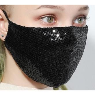 Wiederverwendbare Atemschutzmasken Waschbare Baumwolle Maske Schwarz
