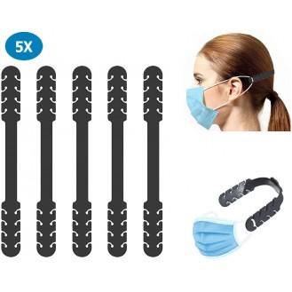 Verstellbare Maskenverlängerung Schwarz 5 Stück