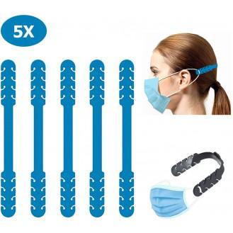 Verstellbare Maskenverlängerung Blau 5 Stück