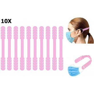Verstellbare Maskenverlängerung Rosa 10 Stück