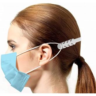 Verstellbare Maskenverlängerung Weiss 10 Stück