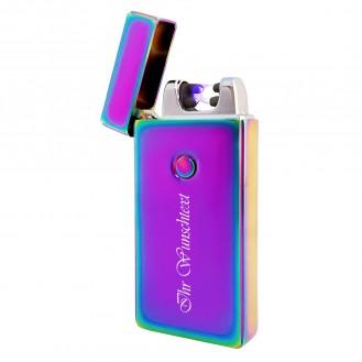 Plasma-Feuerzeug + USB-Kabel 2 Biegungen (Auf Wunsch mit Gravur)