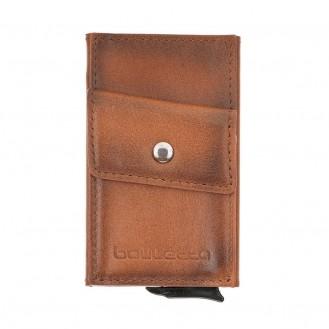 Bouletta Austin Coin Kartenhalter aus Leder RST2EF Taba RFID
