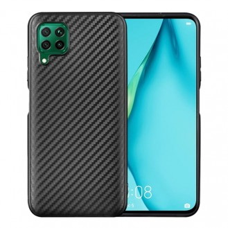 Huawei P40 Lite Carbon Fiber Texture Shockproof TPU Protective Case Schwarz