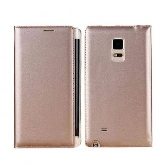 Leder Samsung Galaxy Note Edge Gold