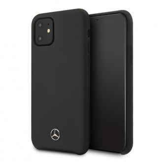 Mercedes Benz - Silicone Line - iPhone 12, 12 Pro (6.1) - Schwarz - Schutzhülle Cover Case Handyhülle