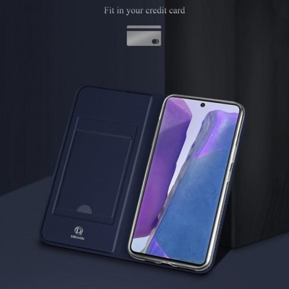 Samsung Galaxy Note 20 Ultra ISKIN Series Slight Frosted PU Hülle + TPU Case Blau
