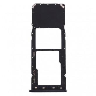 SIM Card Tray + Micro SD Card Tray for Galaxy A20 A30 A50 Schwarz