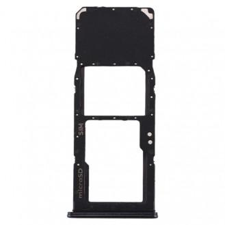 SIM Card Tray + Micro SD Card Tray for Galaxy A70 Schwarz