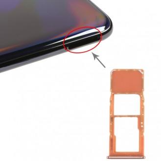 SIM Card Tray + Micro SD Card Tray for Galaxy A70 Orange