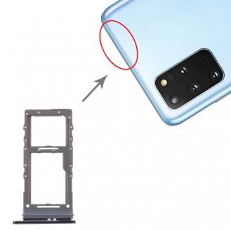 SIM Card Tray / Micro SD Card Tray for Samsung Galaxy S20 Ultra Schwarz