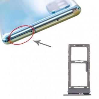 SIM Card Tray + Micro SD Card Tray for Samsung Galaxy S20 Schwarz