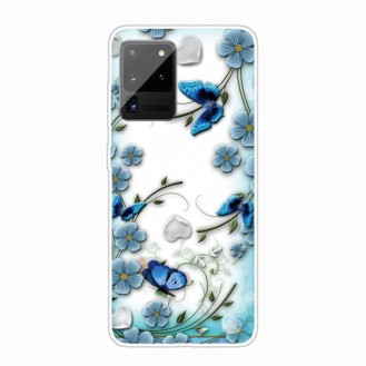 Samsung Galaxy Note 20 Ultra Shockproof Painted TPU Protective Case Hülle (Chrysanthemum Butterfly)