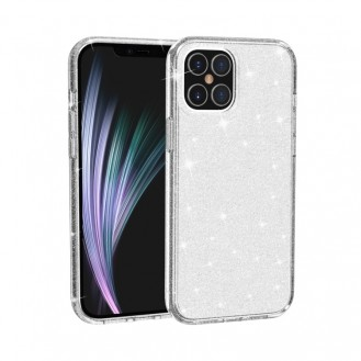 iPhone 12 Pro Shockproof Terminator Style Glitter Powder Protective Case Hülle Weiss