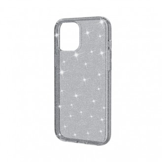 iPhone 12 Shockproof Terminator Style Glitter Powder Protective Case Hülle Grau