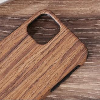 iPhone 12 Pro Wood Texture TPU Protective Case (Rotes Sandelholz)