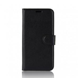 Litchi Texture Horizontal Flip Leder Case Hülle für Galaxy A40