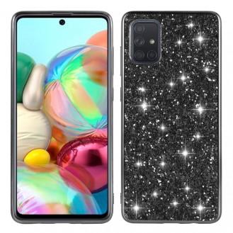 Samsung Galaxy A51 Bling Glitzer Schutzhülle Shockproof  Case Cover Schwarz