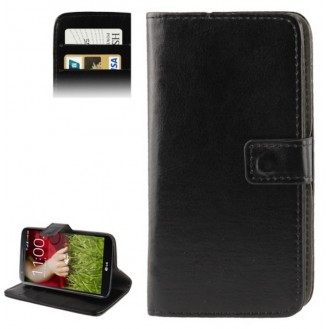 Schwarz Kreditkarte Leder Etui Tasche LG G2