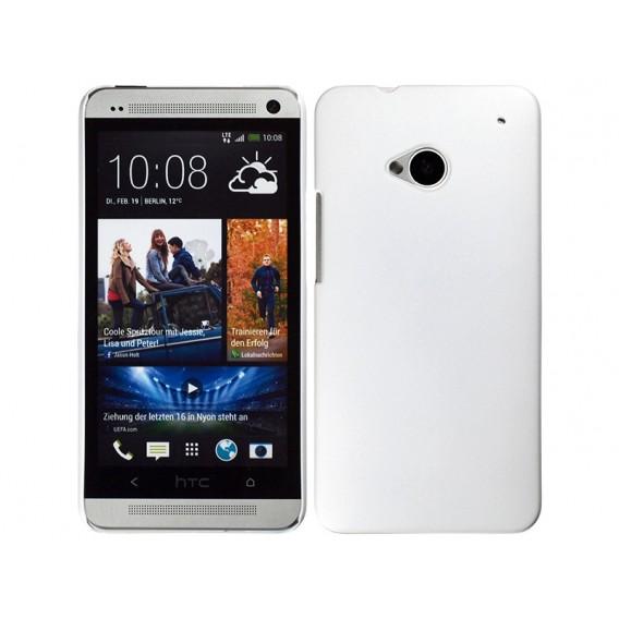 Weiss Hard Case Hülle HTC One M7
