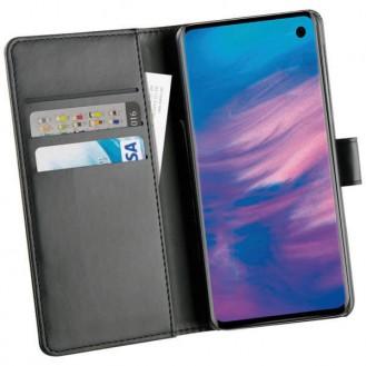 Vivanco Kunstleder Buchklapptasche mit Standfunktion für Samsung Galaxy S10 Plus