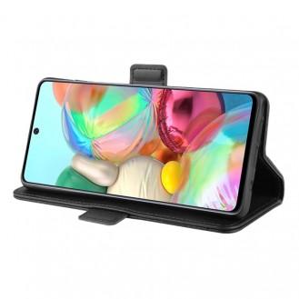 Leder Schwarz Kreditkarte Etui Bookcase Samsung Galaxy Note 10 Lite
