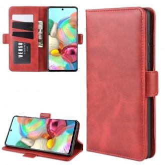 Leder Kreditkarte Etui Samsung Galaxy Note 10 Lite Rot