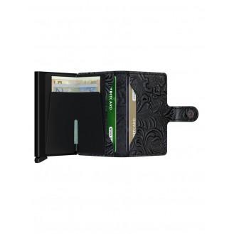 SECRID Geldbörse - Miniwallet Ornament Schwarz
