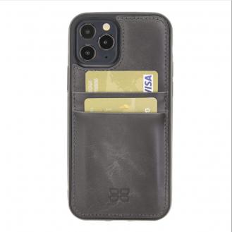 Flex Cover Back Leder Case mit Kartenfach für iPhone 12 6.7