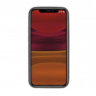 Flex Cover Back Leder Case mit Kartenfach für iPhone 12 Pro Max 6.7 Rustic Schwarz