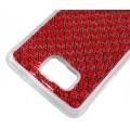 Samsung Galaxy Alpha Soft Bling Strass Silikon Hülle Rot