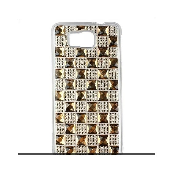 Samsung Galaxy Alpha Soft Bling Strass Silikon Hülle Gold